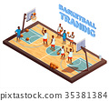 Training Basketball Isometric Composition 35381384