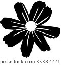คอสมอส,ภาพเงา,ดอกไม้ 35382221