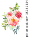 Flowers watercolor illustration 35382384