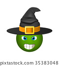 Halloween smiley emoticons, emoji, vector 35383048