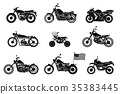 black, motobike, two-wheeled 35383445