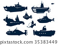 silhouettes of submarines 35383449