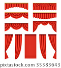curtain, red, theater 35383643