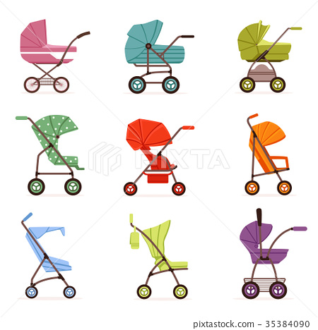 Baby stroller set, different types of kids 35384090