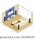 home, theater, isometric 35384624
