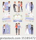 welcome, wedding, set 35385472
