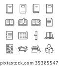 Books line icon set. 35385547