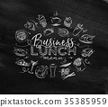 Monogram business lunch chalk 35385959