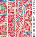 Set vertical banner of map unknown city. 35386663