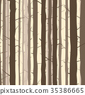 Seamless background with many tree trunks. 35386665