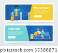 airport, travel, vector 35386871