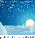 Christmas winter landscape background Picture 35387140