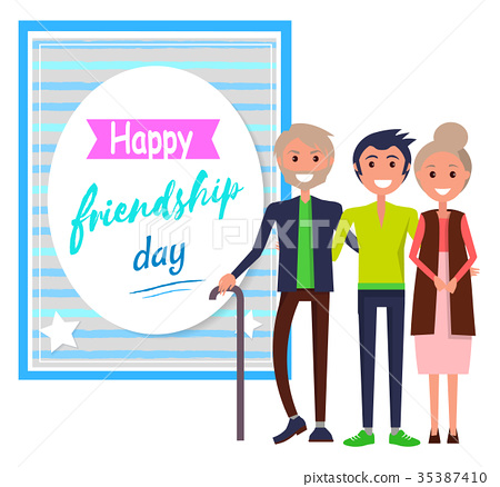Happy Friendship Day Greeting Card with Friends 35387410