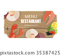 menu restaurant seafood 35387425