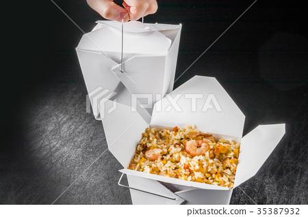 外賣中餐外賣集裝箱(牡蠣桶) 35387932