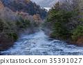 瀑布 楓樹 紅楓 35391027