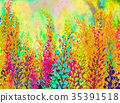 Watercolor painting colorful of abstract flowers  35391518