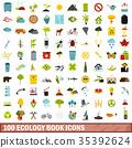 100, ecology, icons 35392624