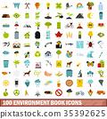 100, environment, icons 35392625