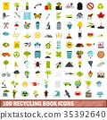 100, recycling, icons 35392640