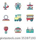 amusement vector ride 35397193