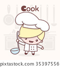 character, cook, illustration 35397556