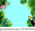 Tropical island circlet of beautiful plants 35397644