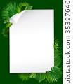 tropical vector leaves 35397646