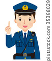 Police officer face pose 35398029
