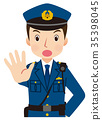 Police officer face pose 35398045