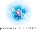 Christmas snow background 35398375