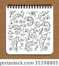 Notebook design, hameleon set 35398805