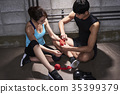 젊은남자,젊은여자,권투 35399379