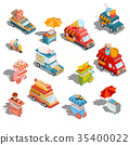 isometric illustrations cars fast delivery of 35400022