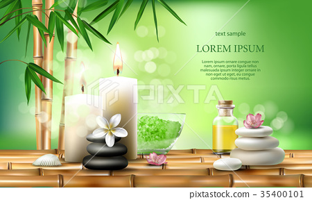 illustration for spa treatments with aromatic 35400101