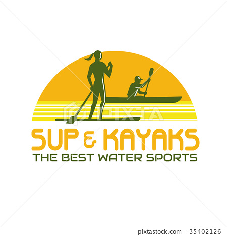 SUP and Kayak Water Sports Retro 35402126
