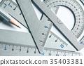 close up a part of silver precision measurement 35403381