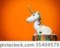 Unicorn cake topper 35404570