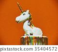 Unicorn cake topper 35404572