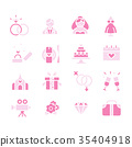 Wedding Icons 35404918