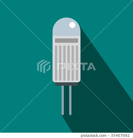Halogen lamp icon, flat style 35407092