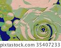 Dot Art Drawing; A Gift of Preservrd Flower  35407233