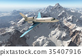 plane, airplane, mountain 35407916