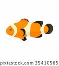 Clown fish icon, cartoon style 35410565