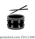 鼓 棍棒 图标 35411389