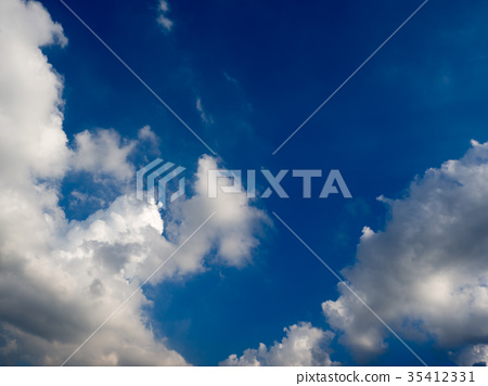 blue sky with clouds and rain clouds 35412331