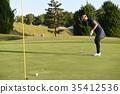 高爾夫球手 女生 女孩 35412536
