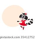 raccoon, ballet, dancer 35412752