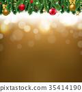 Christmas Border Gold 35414190