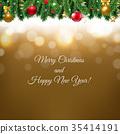 Christmas Border Gold 35414191